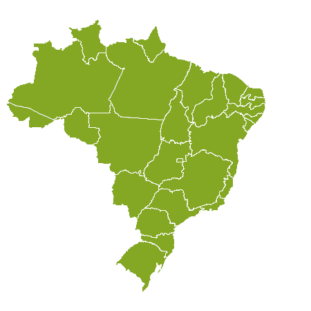 Brasil country map