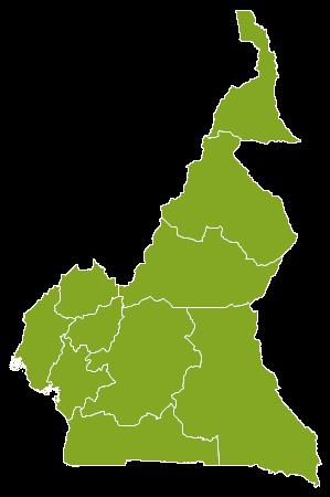 Cameroun country map