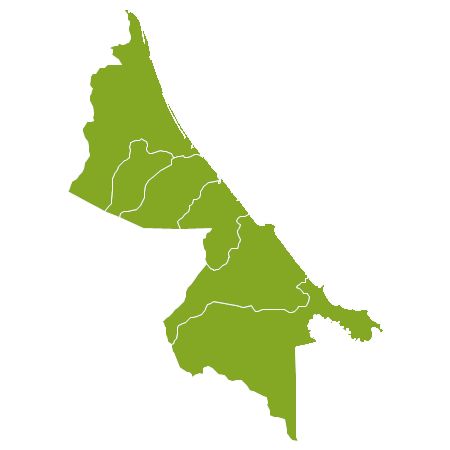Costa Rica country map