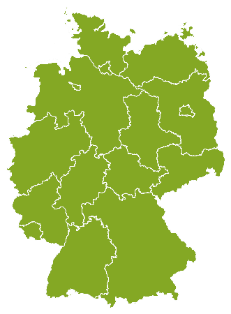 Deutschland country map