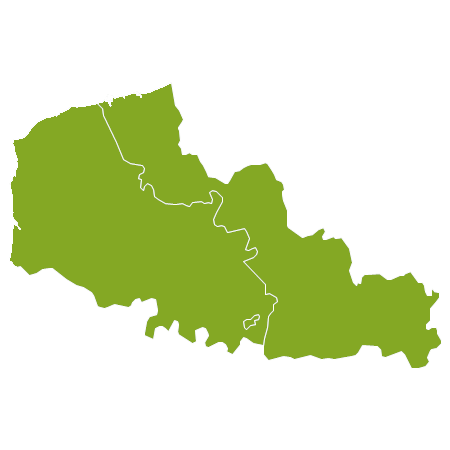 Frankrijk country map