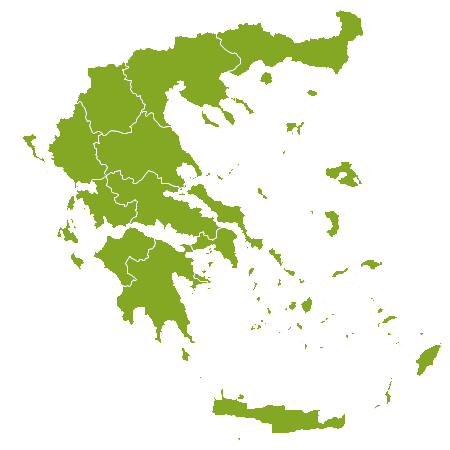 Grèce country map