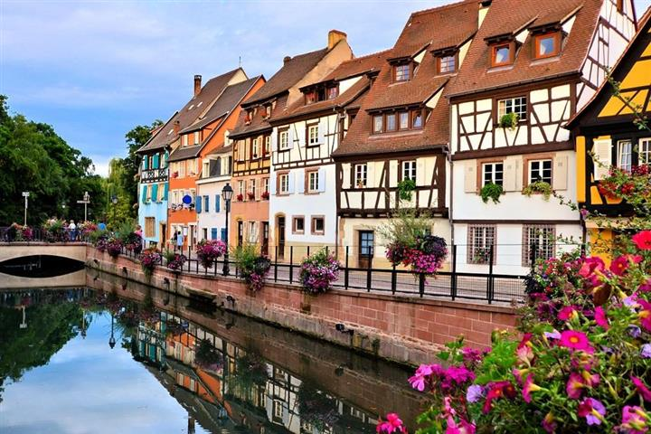 Houses near Colmar canal, Alsace