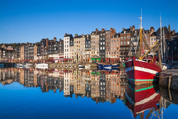 Le port de Honfleur, Calvados, France