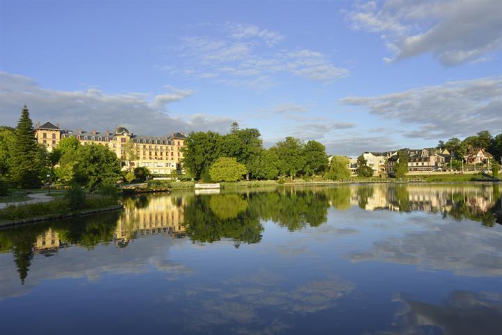 The lake in Bagnoles-de-l'Orne, Normandy, France