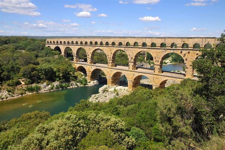 The Pont-du-Gard, near Nimes