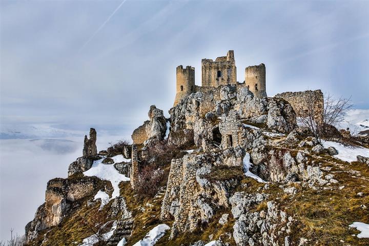 Château de Rocca Calascio dans les Abbruzes