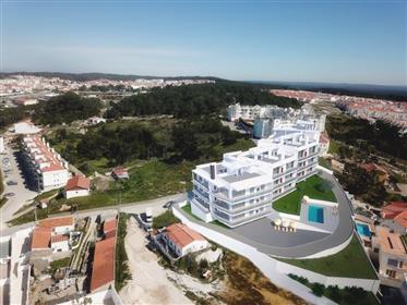 Apartamentos T3 - Bloco 1 - em construção na praia da Nazaré...