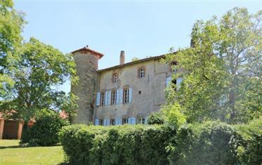 Château du 16/18 siècle 600m2 avec gîte 70m2 sis sur un beau terrain de 4 ha avec piscine et dépenda