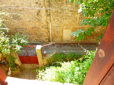 Lagrasse charming stone house overlooking courtyard