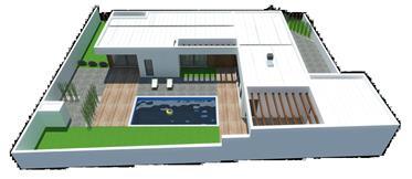 Moradia moderna T3,  em projeto, em lote de 652 m2 -  Bom Sucesso - Óbidos