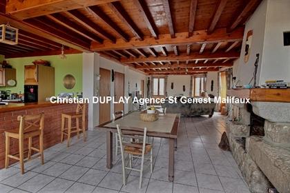 Marlhes 42660 Centre Village Appartement Duplex 180m² habitables 3 chambres au second et d