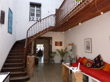 Superb listed gascon townhouse with courtyard garden, stunning atrium & shop/gallery plus apartment