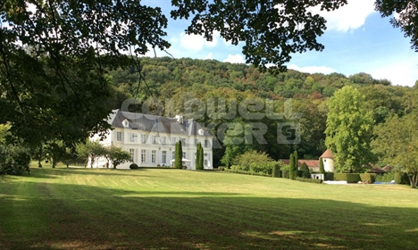 18Th century chateau with outbuildings