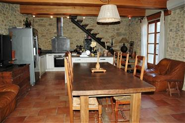 Charming renovated barn with garden and garage in pretty Corbières village