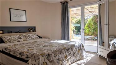 Delightful property with pool and garden in busy village close to Narbonne