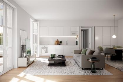 Apartamento T2 com 83 m ², novíssimo, com estacionamento, ar...