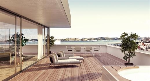 Appartement met uitzicht op de rivier in Lissabon
