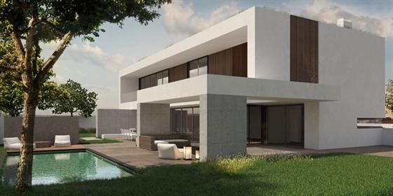 Villa de arquitectura contemporânea em construção situada no...