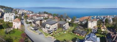 Appartement de 2 chambres avec vue sur le lac au-dessus port...