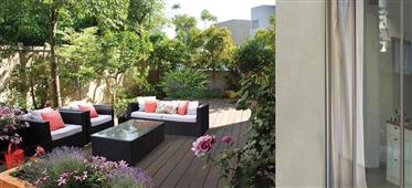 New  Duplex Garden in the residential area of Tel Baruch in Tel Aviv