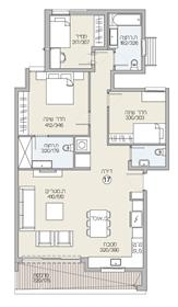 """דירה : 113 מ""""ר"""