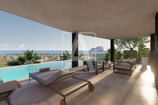 Villa en venta en Calpe, situada en una zona residencial con...