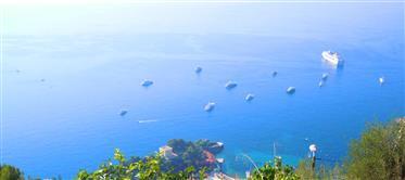 Vue mer, terrain 12200m² proche Monaco