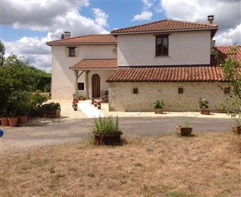 Fully renovated farm house with gite, land, barn + further p...