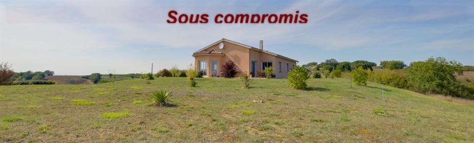 Jolie Villa Avec Vue Sur Les Pyrenees - Beau Terrain Dominan...