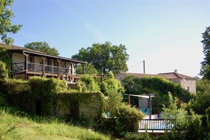 Propriété avec maison et 10 chambres d'hôtes/gîtes-