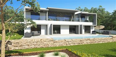 Moradia T3, em projecto, com piscina e logradouro