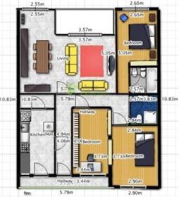 Apartamento T3 Cond. Com Piscina