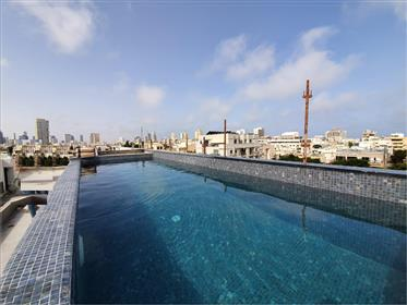 נטהאוז חדש ויוקרתי במיקום מעולה במרכז תל אביב מרחק הליכה לחוף הים