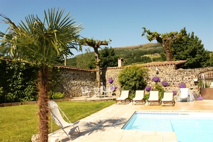 Sale Ardèche (07), 15 min A7 - Property in the countryside, 600 m2, swimming pool, outbuildings, nic