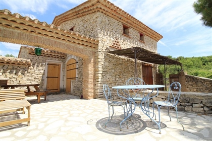 Bastide atypical South Ardèche (07), open view, 4 bedrooms, outbuildings