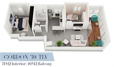 """דירה יוקרתית בפרוייקט גורדון 30 - סותבי'ס ישראל נדל""""ן בינלאו..."""
