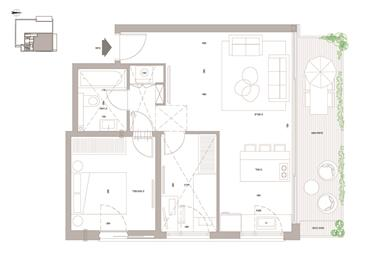 """דירה : 64 מ""""ר"""