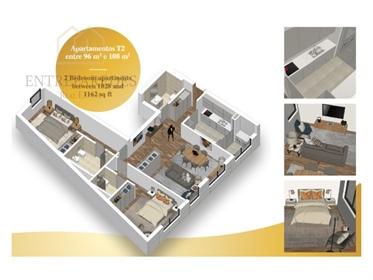 Apartamento T2 com varandas e lugar de garagem em Vila do Conde Porto › Vila do Conde