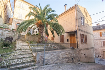 Casa Castello Overlooking the main street of Montottone, a charming medieval village of th