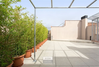New and comfortable penthouse of 60m2 built with square terrace of 80 m2 on foot of 22m2 l