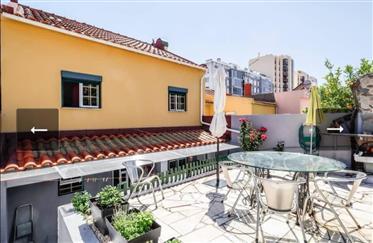 Maison de 4 pièces au quartier Ajuda à Lisbonne avec une fantastique vue de rivière