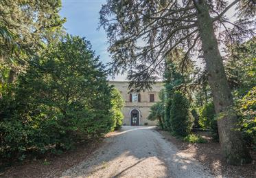 Prestigioso e storico casale con parco in vendita nelle Marc...