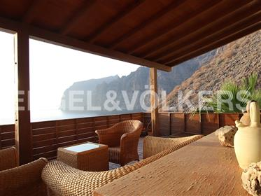 Two seafront apartments with breathtaking views of Los Gigantes, Santiago del Teide, Tenerife South!