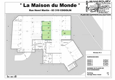 Vente parking/box 13 m2 - Cogolin (83310)