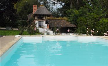 Autêntica cabana com piscina