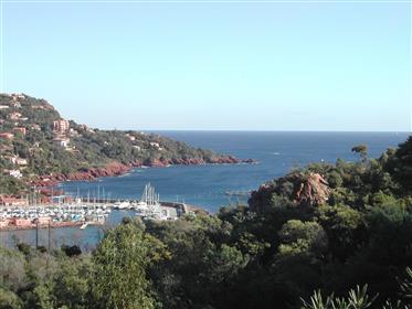Théoule γης όμορφη θέα στη θάλασσα