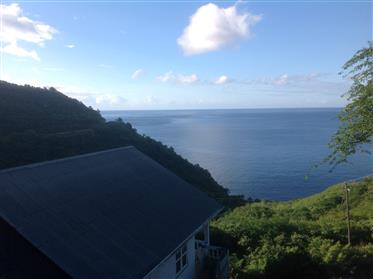 House on Dominica with fantastic views