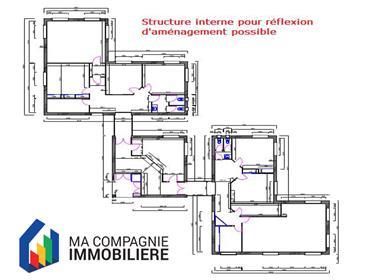 Ensemble immobilier de 335 m² sur 2 822m² constructible