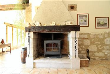 Lovely renovated stone farmhouse. Set in 2.5 hectares of parkland with private 12m by 6m swimming po